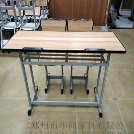 河南厂家促销课桌椅单人双人桌椅、学生课桌、书桌
