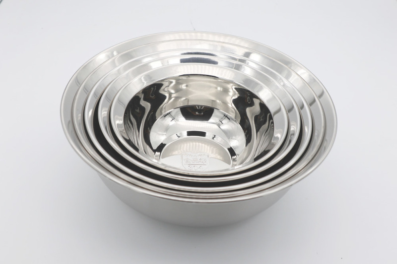 圆形不锈钢防溢盘 加深汤盘 韩式菜盘 深圳不锈钢盘