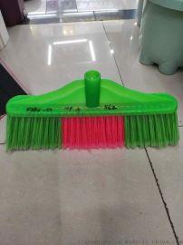 供应塑料扫把 扫把头 塑料胶扫把头短硬丝扫把扫帚