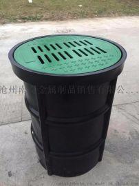 圆形溢流井PE雨水收集器 渗透型截污雨水口