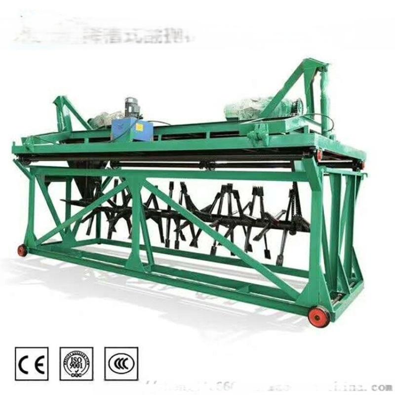 有机肥翻堆设备,鸡粪发酵翻抛机,履带式条垛翻堆机