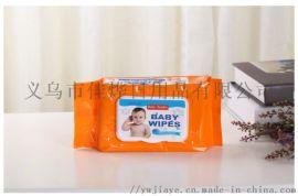 普通婴儿湿巾带盖80片*10包