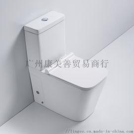 虹吸式抽水马桶节水防臭座便器陶瓷卫浴坐便器