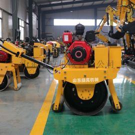 轮宽600的小型振动碾 捷克机械 手扶式双轮压路机