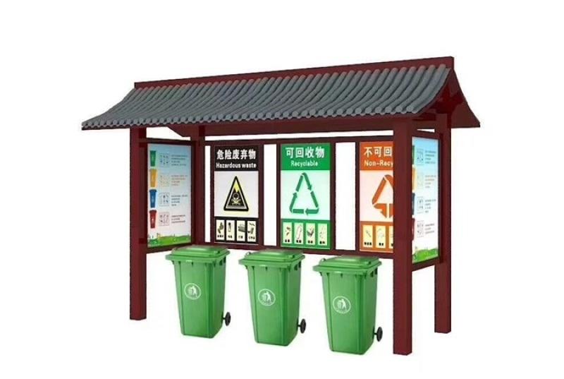 不鏽鋼分類垃圾亭,環衛分類垃圾亭,垃圾箱廠家