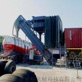 江苏矿粉集装箱中转设备 无尘干灰卸车机 翻箱卸灰机