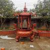 cd123铸铁圆形香炉,寺庙圆形六龙柱香炉供应厂家