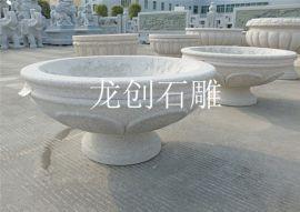 石雕花钵不同场景的摆放 石雕花钵图片