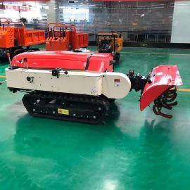 履带式田园管理机 开沟施肥机 多功能拖拉机