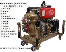 船用柴油机消防泵50CWY-27移动式 手动/电动消防泵