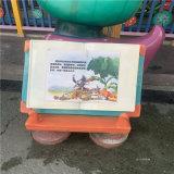 東莞玻璃鋼吉祥物雕塑 遊樂場卡通指示牌雕塑擺件