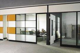 郑州玻璃隔断墙,办公桌间隔屏风,组合办公桌