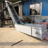 水平式双排链条刮板输送机 高效铸石刮板运料机直销厂家LJ