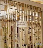 廠家直銷定製酒店大堂玫瑰金鏡面金屬花格隔斷不鏽鋼屏風裝飾隔斷
