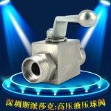 不锈钢 国标板式两通高压面板液压高温球阀KHP DN15 dn20 dn25