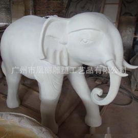 厂家直销仿砂岩动物喷水摆件 动物雕塑 小区园林装饰