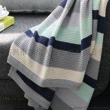 供应针织毯 儿童盖毯 加厚多色提花儿童毯 外贸童毯加工