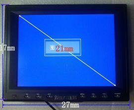 8寸4:3高清工业电阻触摸屏显示器,800X600表面塑料壳后面五金,VGA,直流12V,USB输入