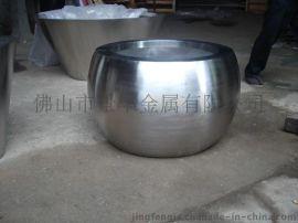 金属落地花盆不锈钢花盆容器园林花瓶艺术花瓶