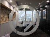 鐳射內雕鋼化藝術玻璃 展覽展示玻璃隔斷牆