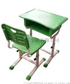 学校辅导班ABS塑料课桌椅沧州华鑫厂家直销