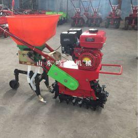 手推汽油机小型播种机,田间除草施肥链轨微耕机