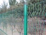機場三角折彎型鐵絲護欄網,桃形柱圍欄網,公園安全網