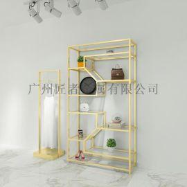 匠者家居金色不锈钢展架 陈列置物展示架柜定制厂家