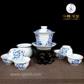 景德镇青花茶具_如何挑选一款不错的青花茶具?