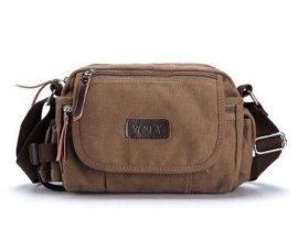 厂家订做单肩包斜挎包休闲耐磨帆布挎包横款功能小包