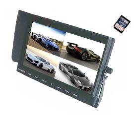 9寸液晶显示器/9寸车载显示器/DVR/4路视频/倒车优先