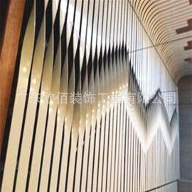 酒店工程专用异型双曲铝单板幕墙 外墙装饰扭曲铝单板