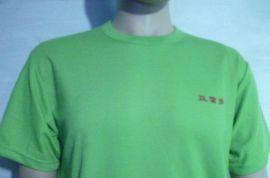160克男女印LOGO短袖T恤圆领针织衫