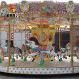 室外豪華轉馬遊樂項目 親子樂園豪華轉馬 童星品牌