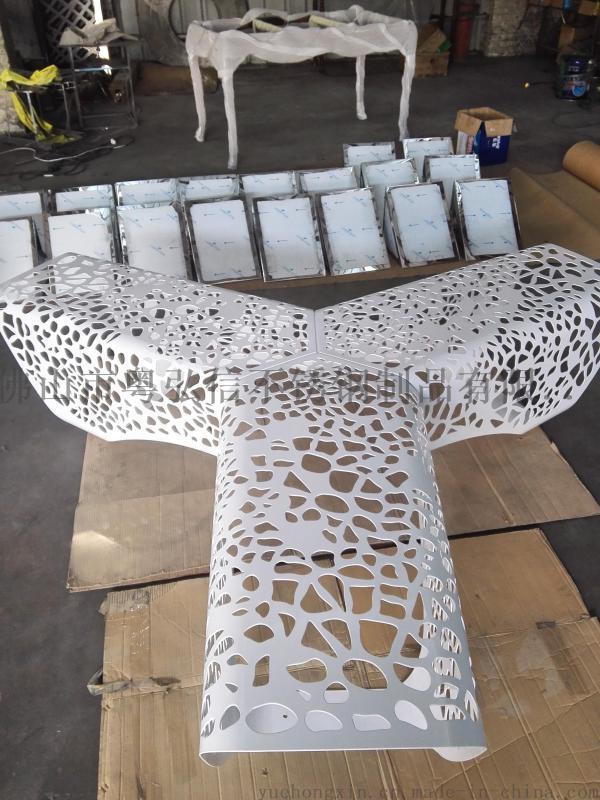 不鏽鋼戶外椅定做 商場不鏽鋼組合休閒凳廠家定做