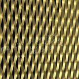 室內土豪金裝飾鋁網板