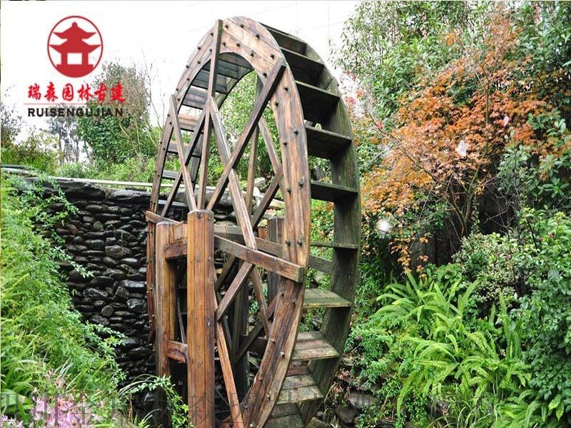成都景观水车厂家,四川瑞森实木水车供应厂