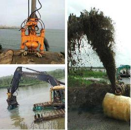 海滩排沙新机械-耐磨钩机沙浆泵 液压搅吸泥沙泵