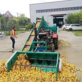 河南全自动高效率双滚筒自动上料自动装袋玉米脱粒机