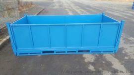 重型板箱钢制料箱周转筐废料箱金属折叠仓储铁箱铁屑箱