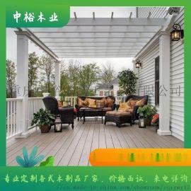 重庆万州防腐木葡萄架、花格、中式门窗围栏定做厂家