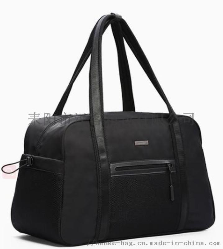 漢客運動健身包男短途旅行包女手提包輕便潮單肩大容量簡約行李袋
