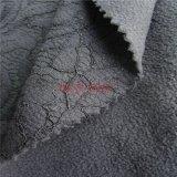 尼龍人棉混紡複合搖粒絨 蕾絲網布雙層複合面料 保暖阻燃功能