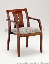 厂家批发时尚实木餐椅水曲柳西餐厅餐椅现代酒店咖啡椅子