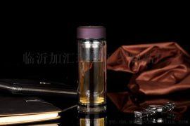 廊坊市加汇双层玻璃杯印字广告杯礼品杯商务促销口杯定制批发印LOGO 玻璃杯厂家