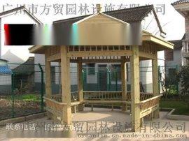 方贸园林设施定做各类防腐木花架凉亭