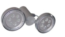 二头明装射灯led天花灯吸顶聚光灯铝材组合灯