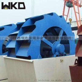 广东大型洗砂机 海砂淡化砂石分离设备 轮斗式洗砂机