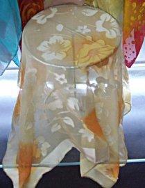 真丝烂花绡小方巾