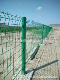 三角折弯护栏网,桃型柱护栏网,围墙钢丝网